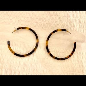 Jcrew Tortoise Shell Hoop Earrings